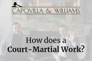 How does a court-martial work