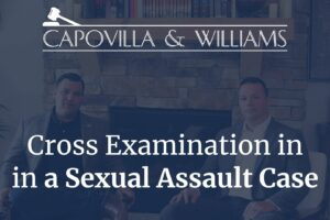 Cross examination in a sexual assault case