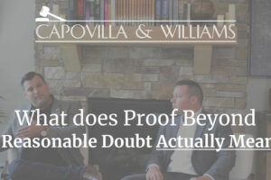 What does proof beyond reasonable doubt means